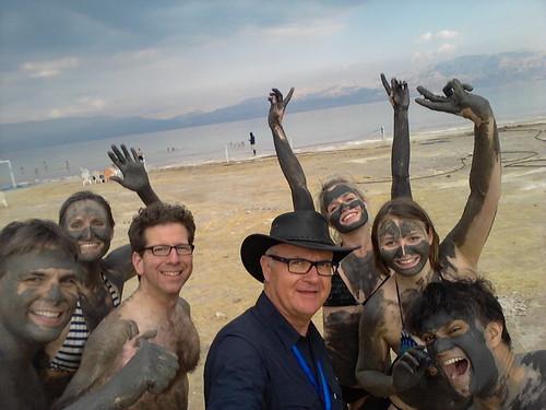 dead sea selfie
