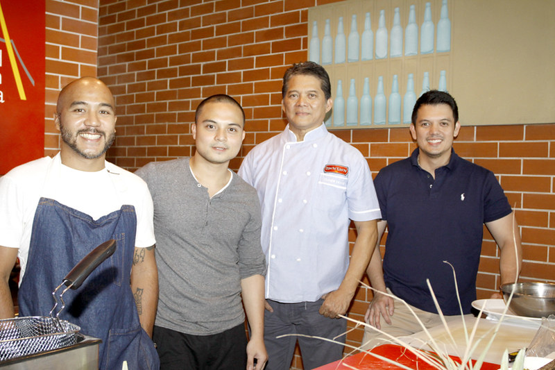 Chef JP Anglo, Chef Bruce Ricketts, Chef Claude Tayag, Chef Rob Pengson