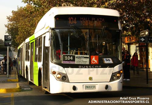 Transantiago - Inversiones Alsacia - Busscar Urbanuss / Volvo (ZN6455)