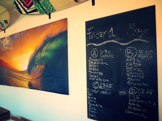 surf schedule, planet surf camps fuerteventura, surf camp, surf trip