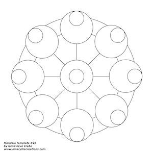 Mandala template 26