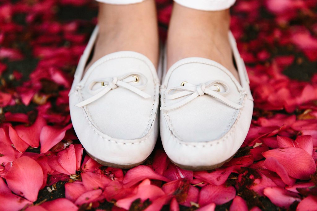 White Leather Loafers Moccasins Cynthia Rowley
