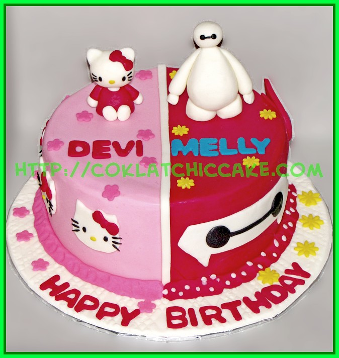 Mix Cake Hello Kitty Baymax Devi Melly Jual Kue