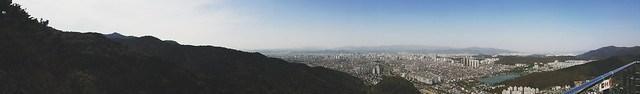 Daegu // Panoramic from Apsan