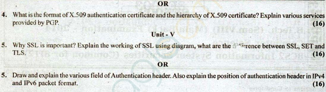 RTU: Question Papers 2014 - 8 Semester - CS - 8E5002