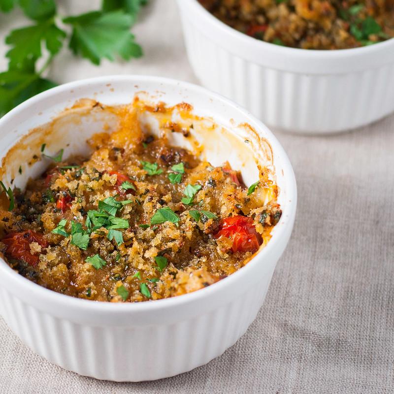 15-minute year-round tomato gratin