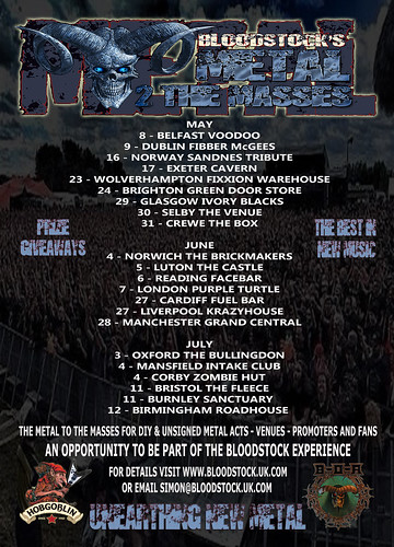 Poster for the finals of Bloodstock Metal 2 The Masses final round