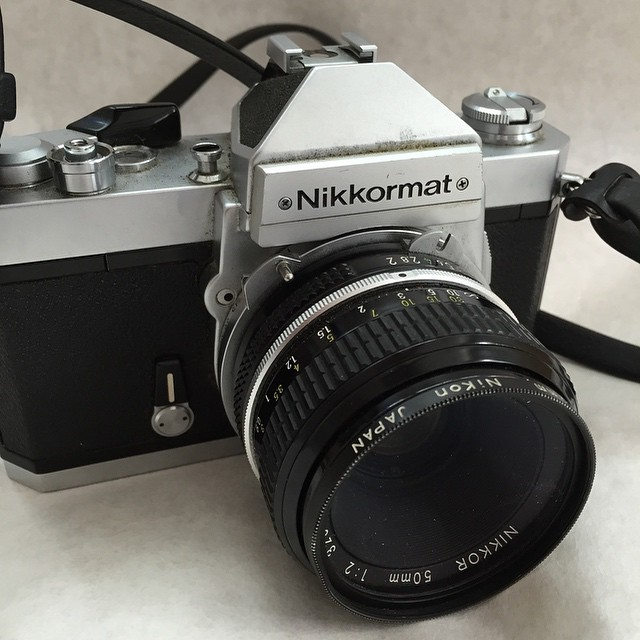 $10 yard sale find. Bought it for the lens, but I wish it was a 1.4