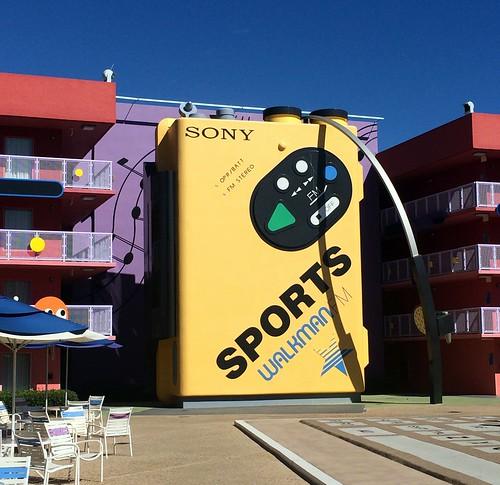 Orlando - Disney World - Disney's Pop Century Resort - Giant Sony Walkman Radio
