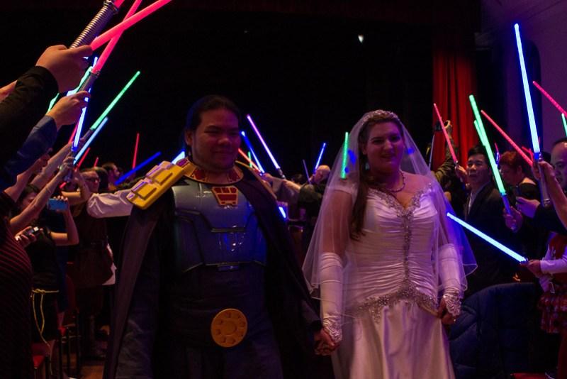 Star Wars Universe wedding from @offbeatbride