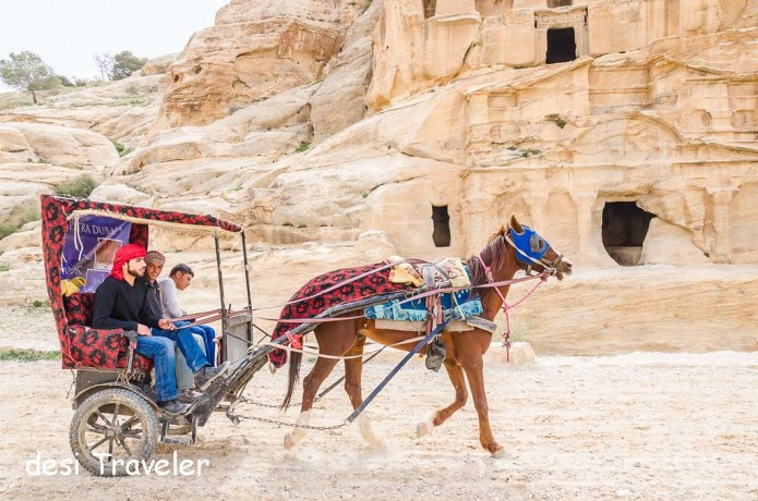 Horse carriage in Petra