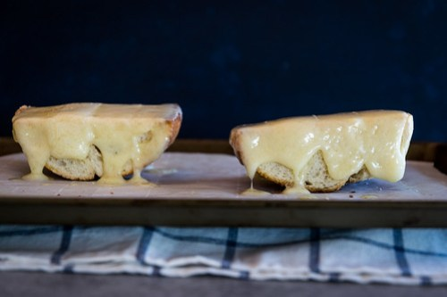 melted gruyere