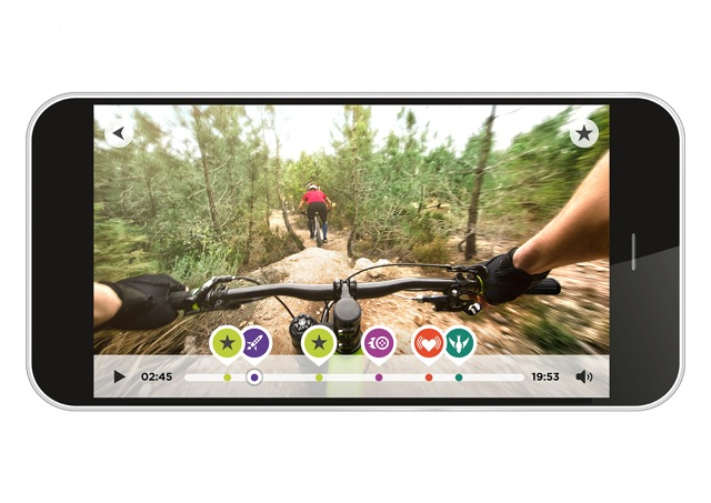 Met de handige mobiele app wordt actie video's monteren met de TomTom Bandit actiecamera echt kinderspel.