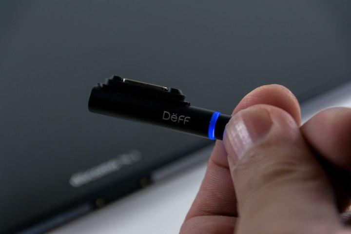Deff ディーフ TRAVEL BIZ XPERIA マグネット式充電ケーブル ブラック 1.0m DCA-SXLED100BK