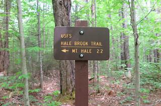 Hale Brook Trail Sign