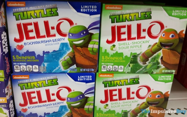 Limited Edition Jello TMNT Booyakasha Berry and Shell-Shockin' Sour Apple Gelatin Mixes