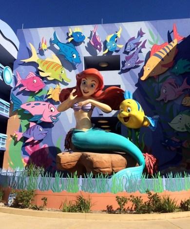 Orlando - Disney World - Disney's Art of Animation Resort - The Little Mermaid - Giant Ariel