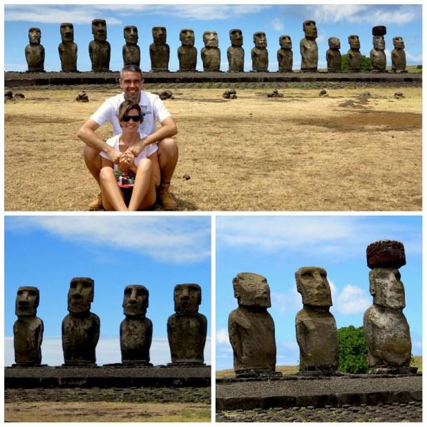 Principales moais en Isla de Pascua