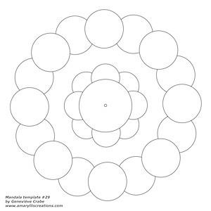 Mandala template 29