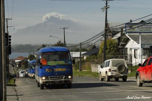 Erupción Volcán Calbuco - Puerto Varas - Mitsubishi Fuso Rosa