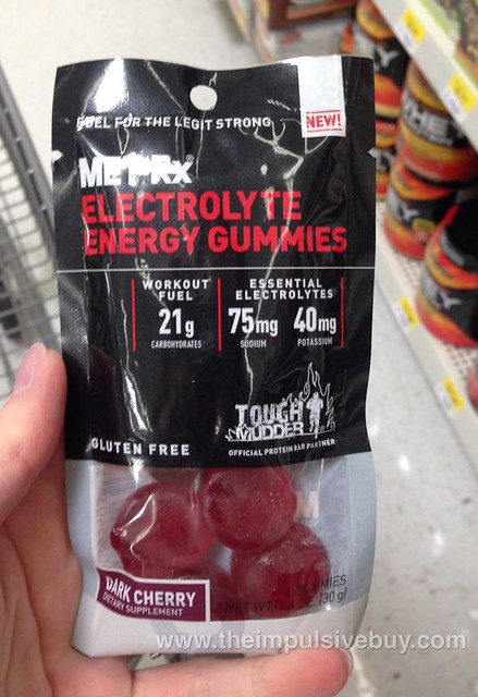 MetRx Dark Cherry Electrolyte Energy Gummies
