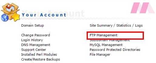 WordPress FTP
