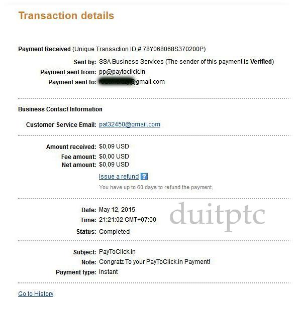 Pembayaran Paytoclick
