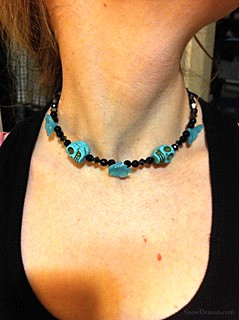 20111208-Turqoise Skull Necklace