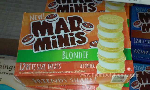 Mad Minis Ice Cream Cookie Sandwiches (Blondie)