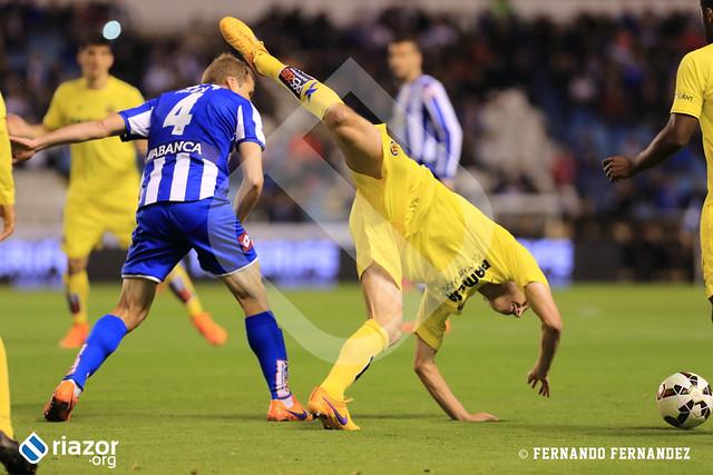 Liga BBVA. R.C.Deportivo 1 - Villarreal 1