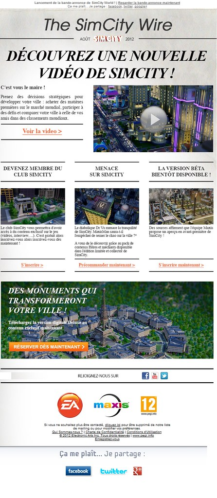 Newsletter SimCity