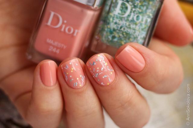 04 Dior #244 Majesty + Dior Top Coat Eclosion