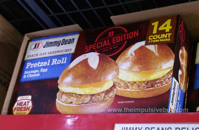 Jimmy Dean Special Edition Sausage, Egg & Cheese Pretzel Roll Snack Size Sandwiches
