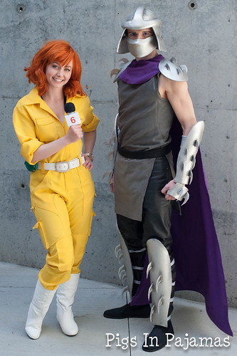 April O'Neil and Shredder