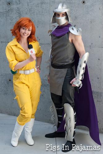 April O'Neil and Shredder
