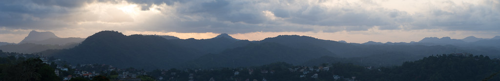 the hills over kandy at sunset (ultra high res)