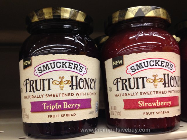 Smucker's Fruit & Honey Fruit Spread (Triple Berry and Strawberry)
