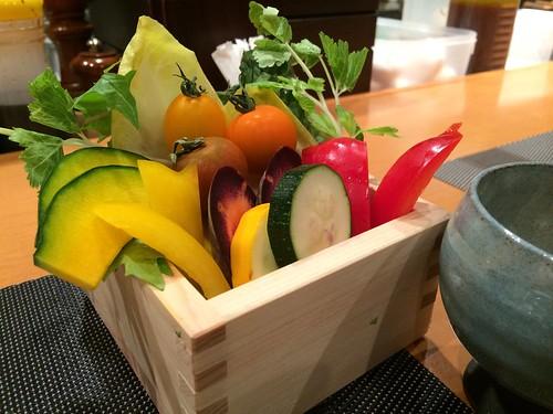 彩り野菜のバーニャカウダ@楽庵