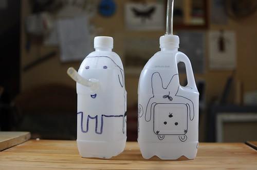 回收塑膠瓶做澆花器(10.8ys)
