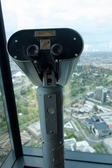 Binoculars stand.