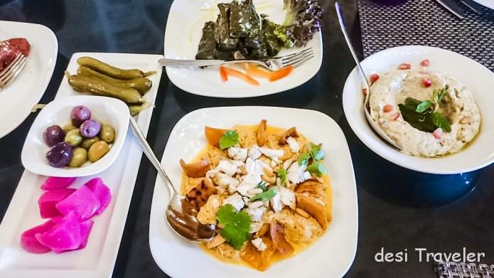 Vegetarian Jordan Food