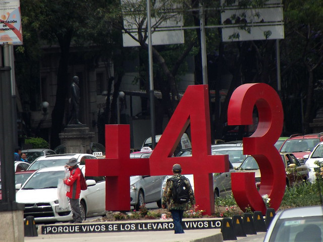 Monument to the 43 missing Ayotzinapa students