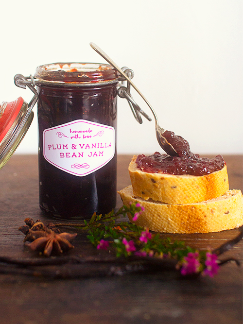 homemade jam + free printable labels