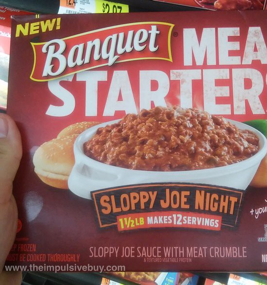 Banquet Meal Starters Sloppy Joe Night