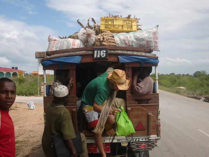 dala dala - less comfortable local transport