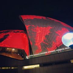The #lights on the #operahouse #vividcanon #vividsydney #red #light #ilovesydney #seeaustralia