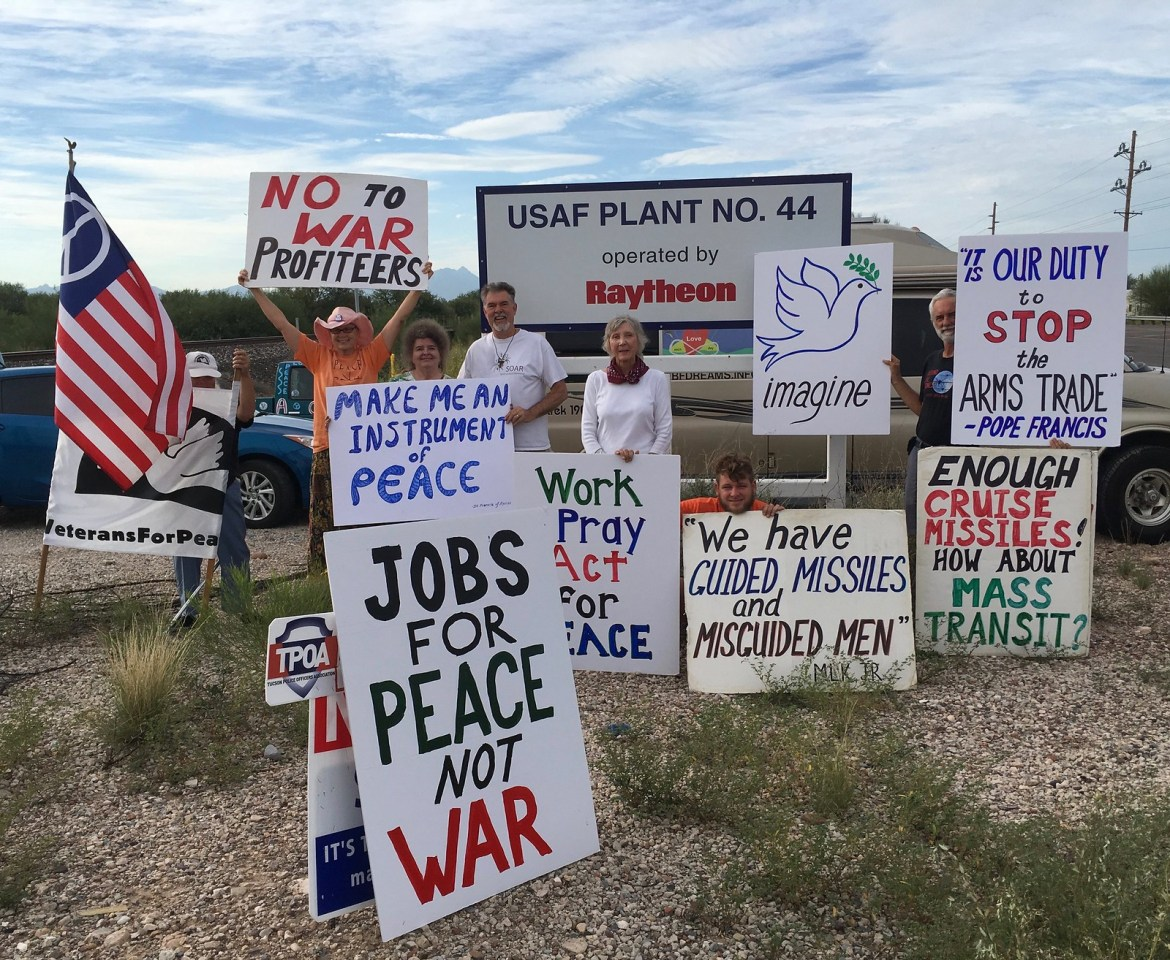 Tucson,AZ CNV Action 2016 - Vigil at Raytheon Missile Systems (4)