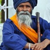 India - Punjab - Amritsar - Golden Temple - Guard - 268