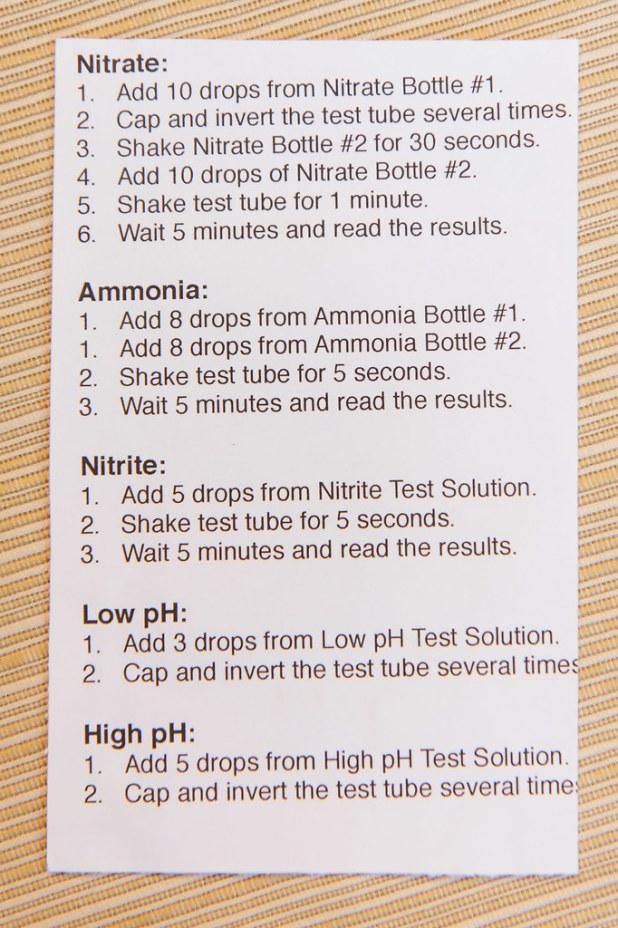 Api Aquarium Freshwater Master Test Kit Instructions Laairfan