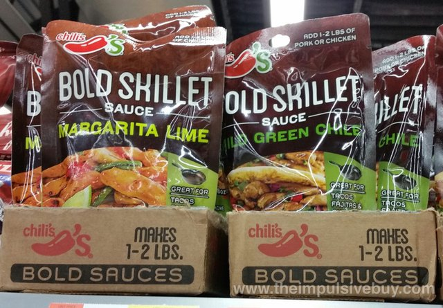 Chili's Bold Skillet Sauces (Margarita Lime and Mild Green Chile)